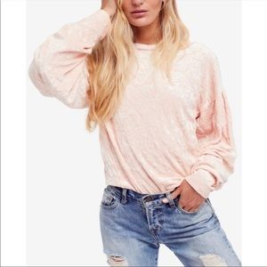 Free People crushed velvet pullover